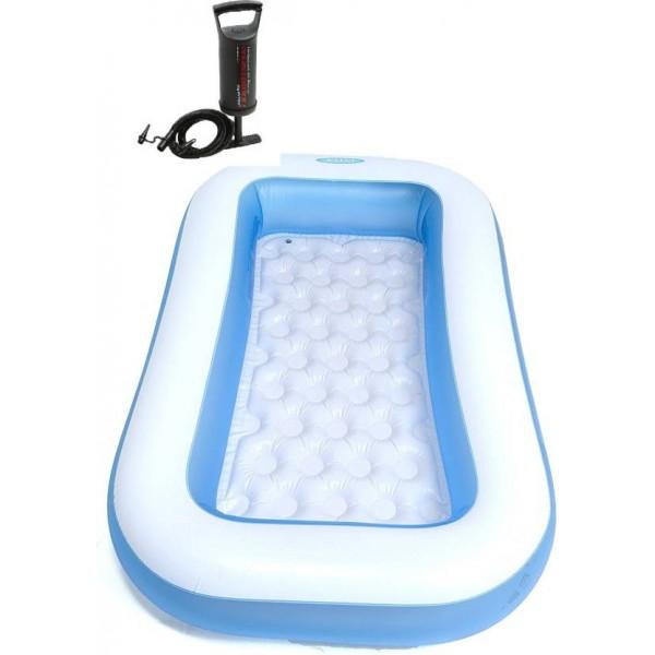 Intex Intex bath tub 6ft 57403NP with pump  (Blue)