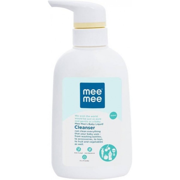 MeeMee Anti-Bacterial Baby Liquid Cleanser for Fruits, Bottles, Accessories & Toys - 300ml  (300 ml)