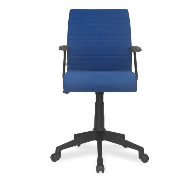 Nilkamal Thames Leatherette Office Arm Chair  (Blue)