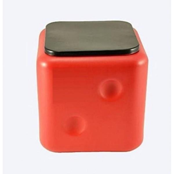 Nightstar Dice Stool Red Living & Bedroom Stool  (Red)