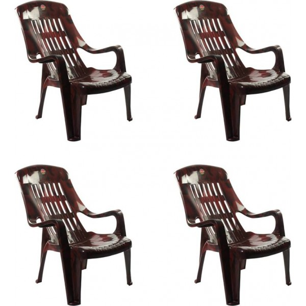 Cello Furniture Plastic Living Room Chair  (Finish Color - Rosewood)