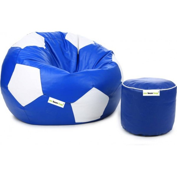 Can bean bags XL Bean Bag Cover (Without Beans)  (Blue, White)