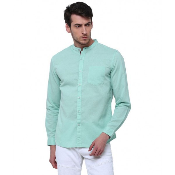 Highlander Green Slim Fit Shirt Single