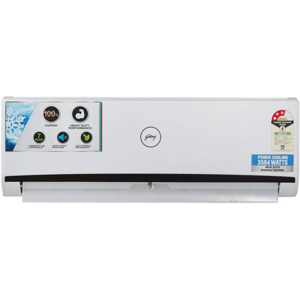 Godrej 1 Ton 3 Star BEE Rating 2018 Split AC - White  (GSC 12 RGN 3 DWQH, Copper Condenser)