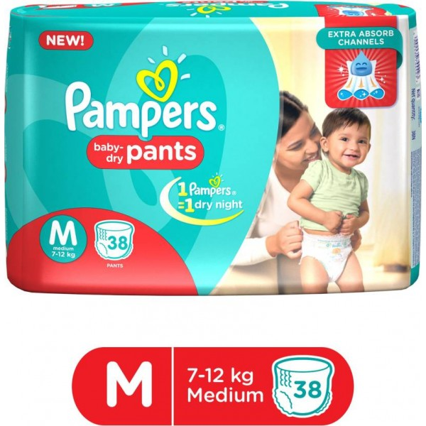 Pampers Pants Diapers - M  (38 Pieces)