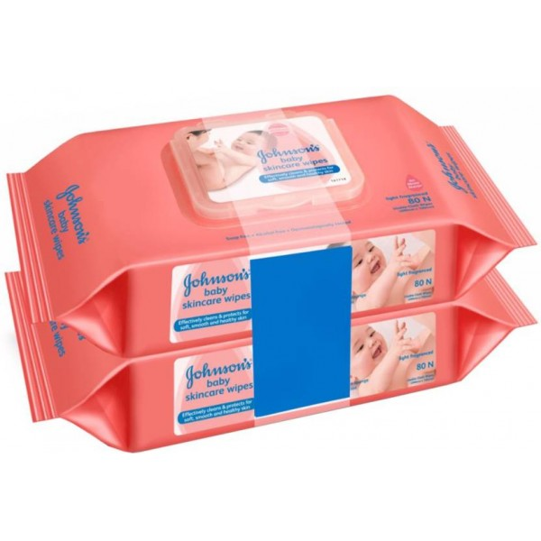 Johnson's Baby Skincare Wipes  (160 Pieces)