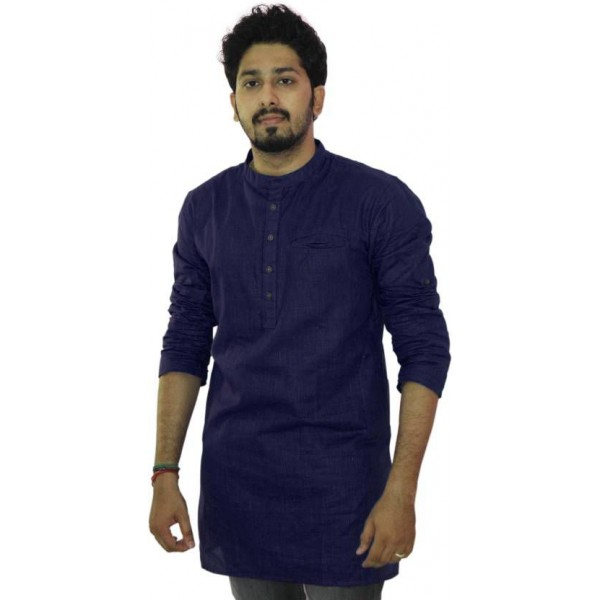 Riders Blue Cotton Kurta Single