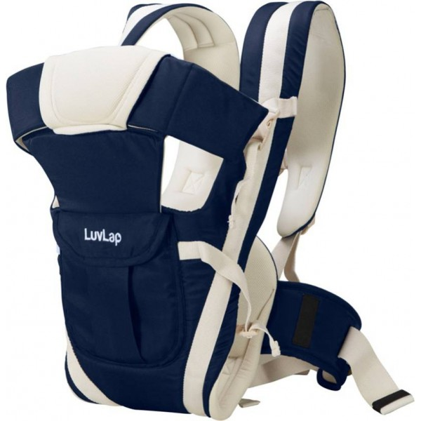 LuvLap Elegant Baby Carrier  (Dark Blue, Front Carry facing in)
