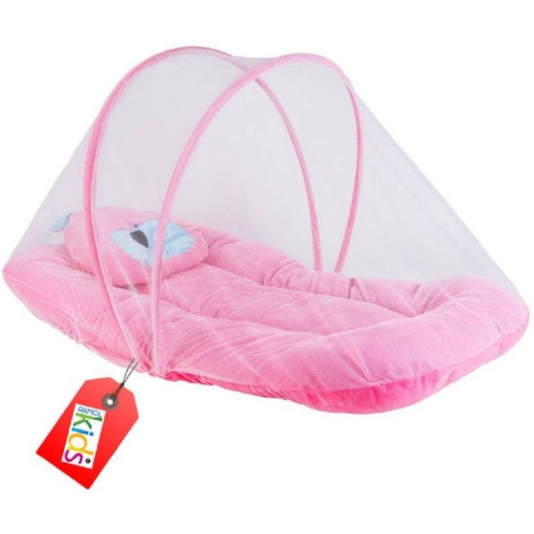 Anmol Kids International Skin Friendly Premium Crib Attractive  (Velvet, Pink)