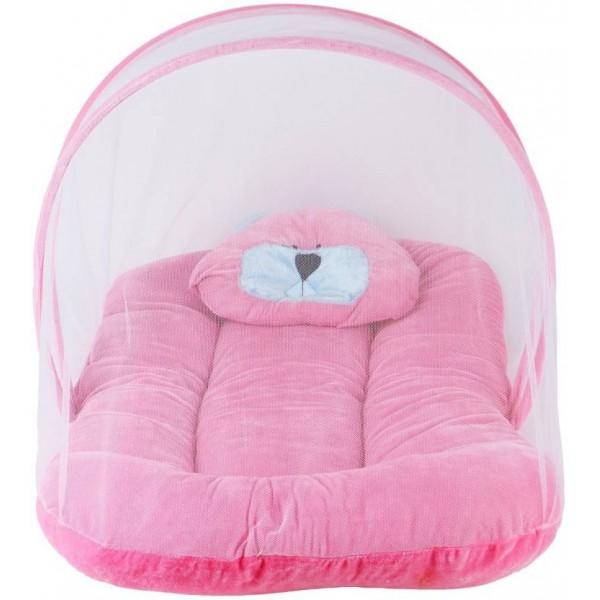 Chhote Janab Nylon Infants BABY VELVET PADDED Mosquito Net  (Pink)