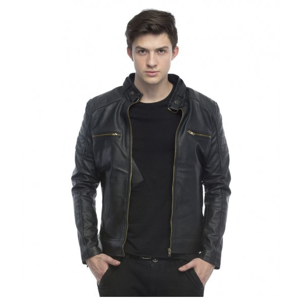 Lambency Black Biker Jacket