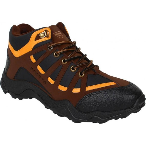 Sporter Running Shoes For Men  (Brown)