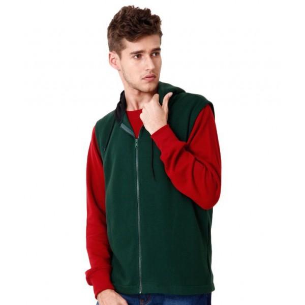 Casual Tees Dark Green Hooded Sweatshirt