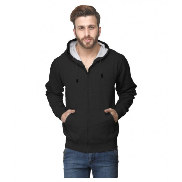 Van Galis Black Hooded Sweatshirt