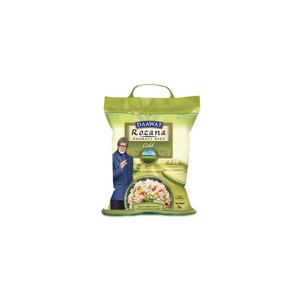 Daawat Basmati Rice - Rozana Gold, 5 kg Pouch