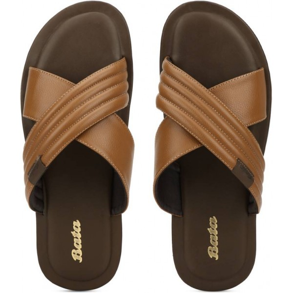 Bata Men Tan Sandals