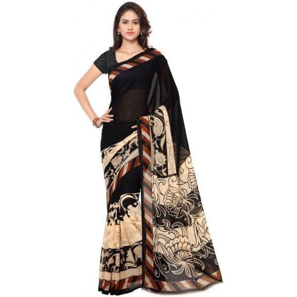 Kashvi Sarees Printed Daily Wear Georgette Saree  (Multicolor)