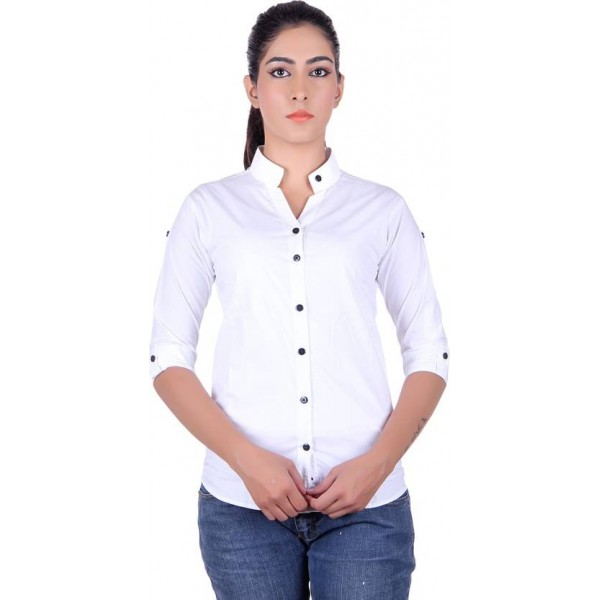 Protext Women's Solid Formal Shirt