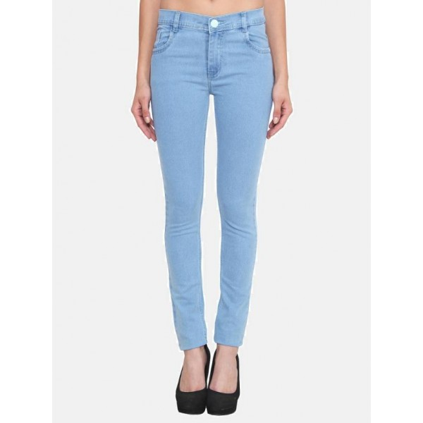 Crease & Clips Slim Women's Light Blue Jeans