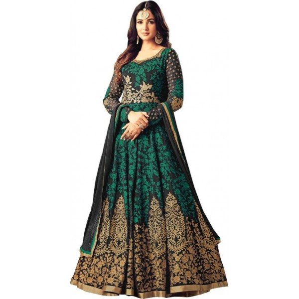 Siddeshwary Fab Anarkali Gown  (Multicolor)