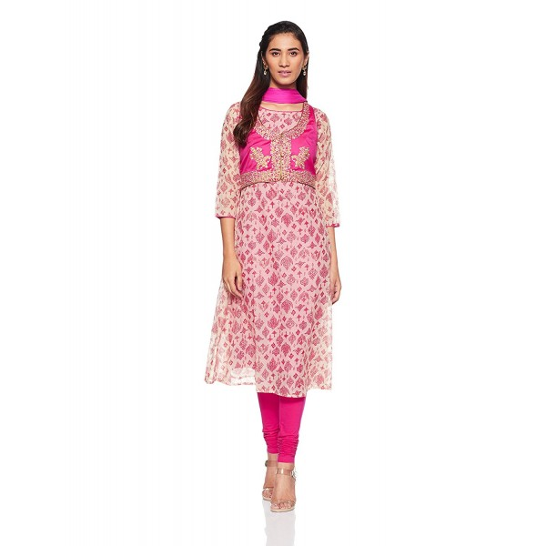 Imara Women's Anarkali Salwar Suit Set (Pack of 3)