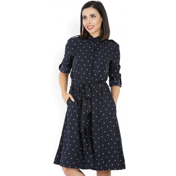 Tokyo Talkies Women's Shirt Blue Dress