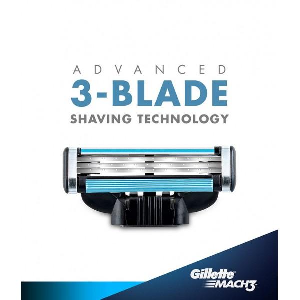 Gillette Mach 3 Manual Shaving Razor Blades (Cartridge) 8s pack