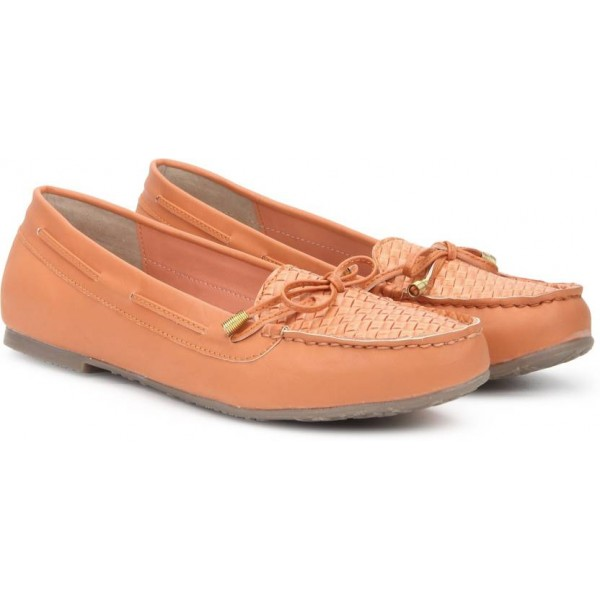 Bata GRETCHEN Loafers For Women  (Orange)