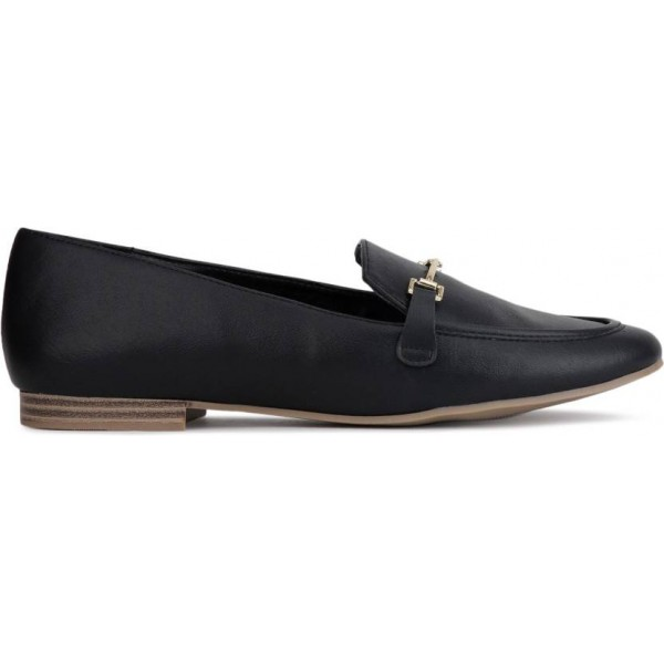 Bata Loafers For Women  (Black)