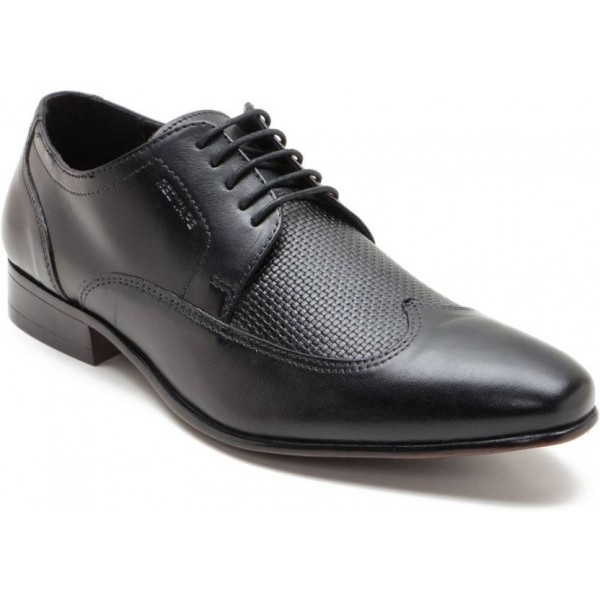 Red Tape Leather Formal Derby For Men  (Black)