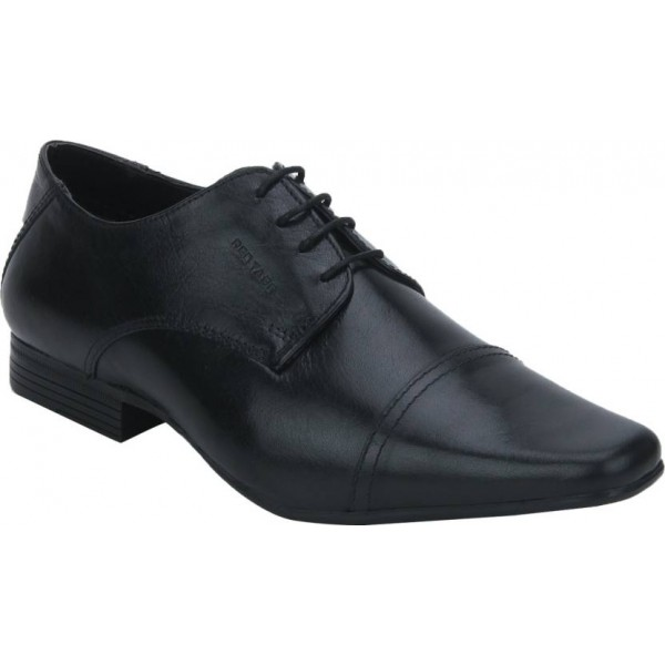 Red Tape Genuine Leather Toecap Lace Up For Men  (Black)