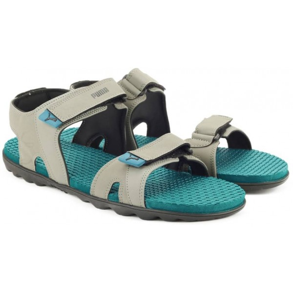 Puma Men Castor Gray-Deep Lagoon-Puma Black Sports Sandals