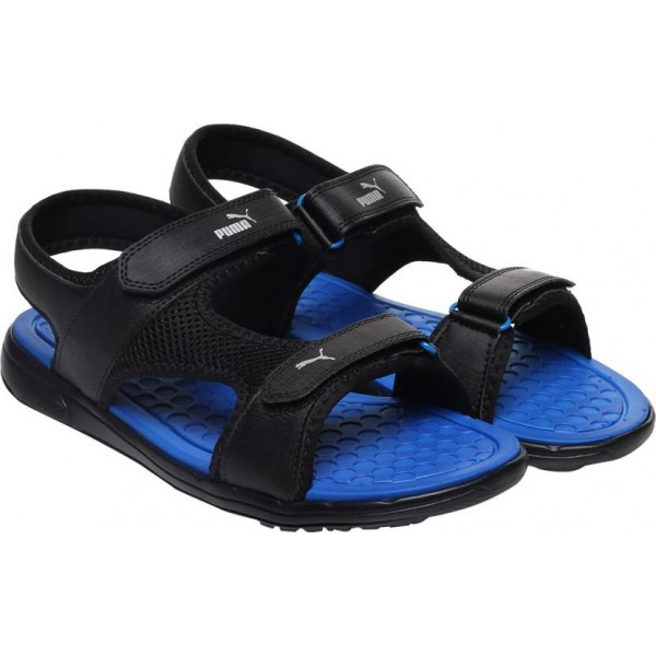 Puma Men Puma Black-Puma Royal Sports Sandals