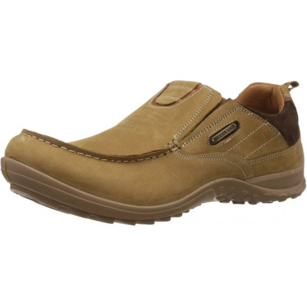 Woodland Men Loafers For Men  (Tan)