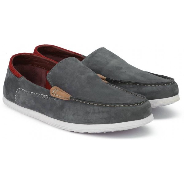 Woodland Loafers For Men  (Grey)