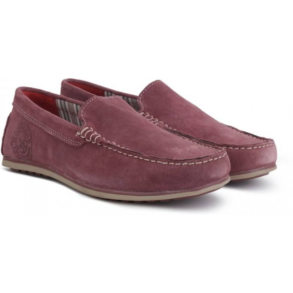 Woodland Leather Loafers For Men  (Purple)