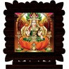 CRAZYINK LAKSHMI Decorative Showpiece - 10 cm  (Wooden, Multicolor)