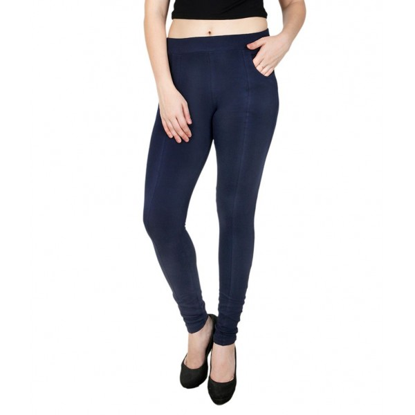 Baremoda Navy Cotton Lycra Jeggings