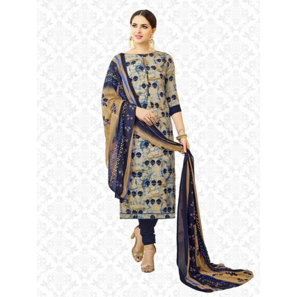 Divastri Rayon Printed Salwar Suit Dupatta Material  (Un-stitched)