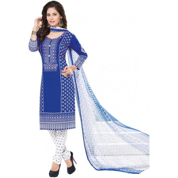 Ishin Synthetic Printed Salwar Suit Dupatta Material  (Un-stitched)