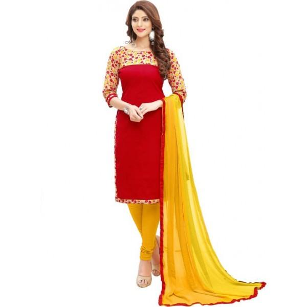 Shoponbit Cotton Floral Print Salwar Suit Dupatta Material  (Un-stitched)