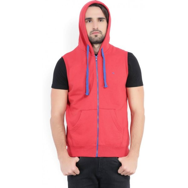 Peter England Sleeveless Solid Men's Sweatshirt