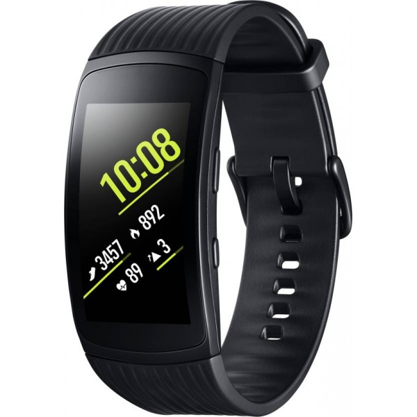 Samsung Gear Fit 2 Pro Smartband  (Black Strap, Size : Large)
