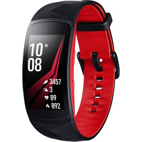 Samsung Gear Fit 2 Pro Smartband  (Red Strap, Size : Large)