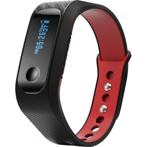 Fastrack Reflex Smart Band  (Black, Red Strap, Size : Regular)