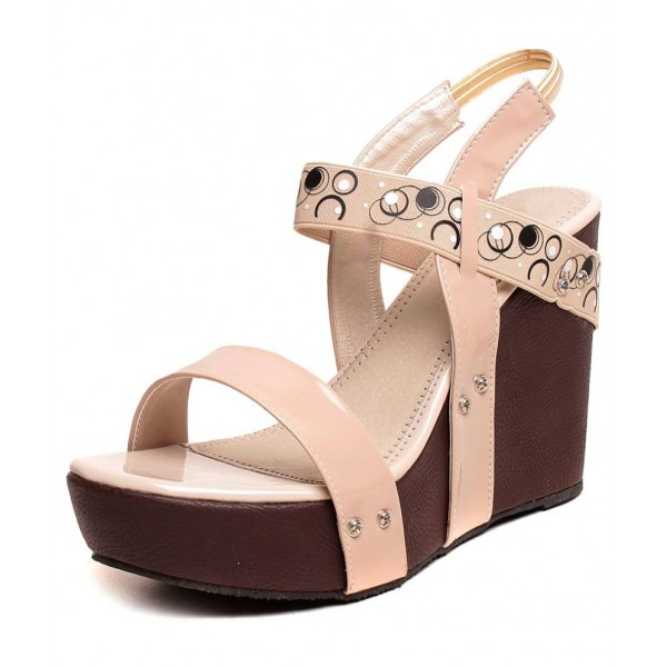 Feel It Beige Wedges Heels
