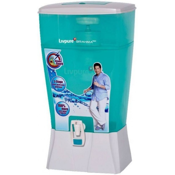 Livpure Brahma Neo 24 L Gravity Based Water Purifier  (White, Sea Green)