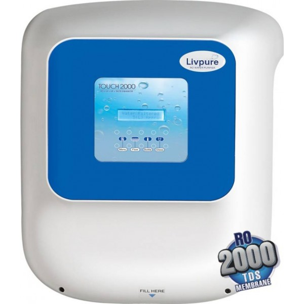 Livpure Touch 2000 8.5 L RO + UV Water Purifier  (White)