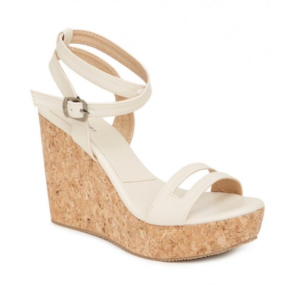 Marc Loire White Wedges Heels