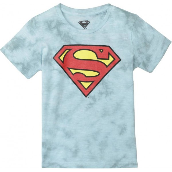 Superman Boy's Graphic Print Cotton T Shirt  (Blue, Pack of 1)